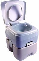 Биотуалет 20л. Индикар заполнения, клапан избыточного давления, пластик серый РТ20В.