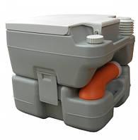 Биотуалет 20л. Индикатор заполнения, Клапан избыточного давления, сливной патрубок, пластик серый РТ20А