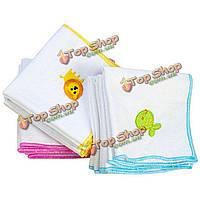 Вышитый платок хлопок марля сота детские полотенце стороны