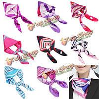 Сочетание цветов женские шелковые шарфы шарф платок авиакомпания стюардесса бизнес-износ