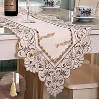 Прямоугольник цветок бегун стол скатерть с кисточкой свадьба партии фестиваль декора коврик