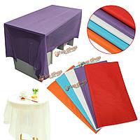 270x135см Clear цвет водонепроницаемый пластиковый прямоугольный стол охватывает ткань для свадебного банкета декора