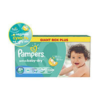 Pampers Active Baby-dry 4+ ( 9-16 ) 96 шт!