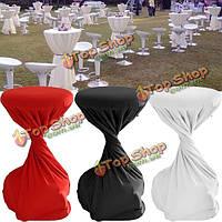 60x110см полиэстер коктейль стол круглый эластичный чехол домашнее украшение партия свадебный скатерть