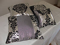 Комплект подушек Корона черная с серебром, 4шт