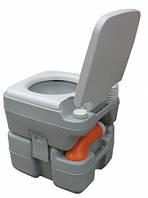 Биотуалет 15л. Клапан избыточного давления, индикатор заполнения, сливной патрубок, пластик серый РТ15А.