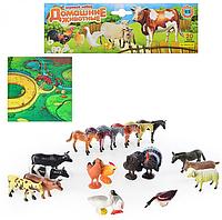 Набор резиновых животных домашних с игровым полем M 0255 U/R HN
