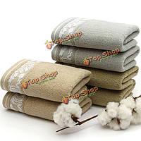 34x74см хлопкового волокна впитывающее полотенце антибактериальным дезодорирующий лицо ткань ванной душ мочалка