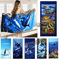 Пляжное полотенце из микрофибры 70x150 см
