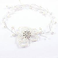 Диадема свадебная Жемчужный цветок