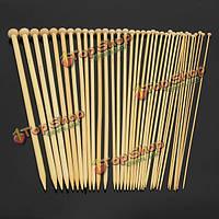 Бамбуковые вязальные спицы 36шт 18 размеров