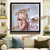40x40см 5D поделок ангел девушки алмаз картина смолы полный горный хрусталь фигурка комплект вышивка крестом