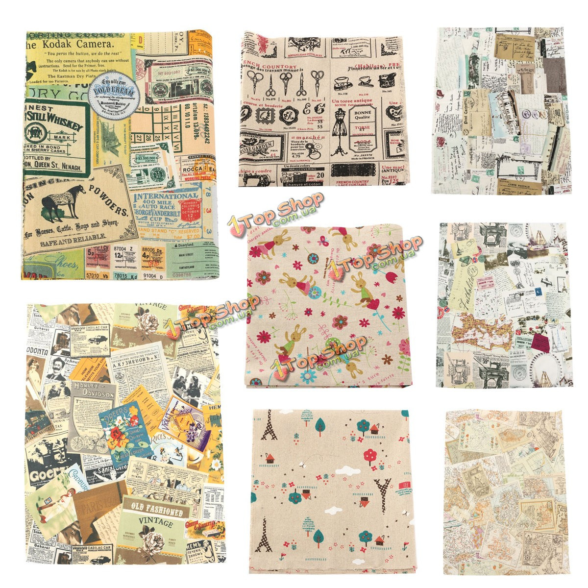 Старинные карты счета серия хлопок льняной ткани ткань лоскутное для поделок стола постельных принадлежностей занавес - ➊TopShop ➠ Товары из Китая с бесплатной доставкой в Украину! в Киеве