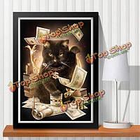 30x40см 5D DIY Plutus кошка алмазов картина смолы комплект полный горный хрусталь животное вышивка крестом