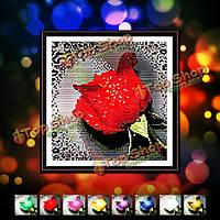 29x29см красивый красочный розы DIY алмазов картины горный хрусталь набор крестиком