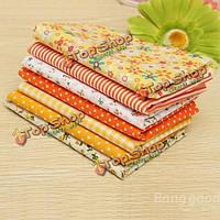 Желтая серия 7 ассорти нарезанные прелесть лоскутного одеяла хлопка ткань 19.7
