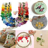 8м 100 различных цветов вышивка крестом нить DIY рукоделие вышивка вязание нить