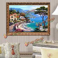 30x40см DIY Средиземное море алмазов картина горный хрусталь Набор для вышивания крестиком