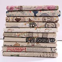 Мультфильм шаблон хлопок льняной ткани ткань лоскутное для поделок стола постельных принадлежностей занавес