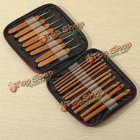 Швейные 20шт бамбуковые Крючки для вязания спицы для вязания переплетения