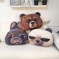 Подушка диванная круглая Медведь 49x34см