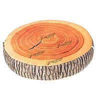 Подушка форма сруба дерева 39см
