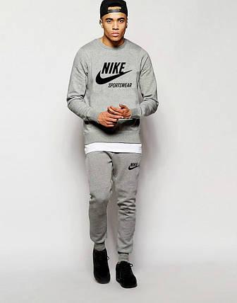 Мужской Спортивный костюм Nike Sportswear серый, фото 2