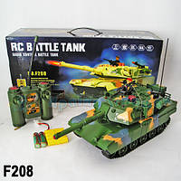 Танк F208-9 р/у, свет, звук, пульт на батар.
