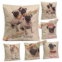 Мило шарпей собаки бросить подушку дело квадратные подушки крышки домашнего офиса диван автомобиля декор