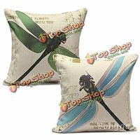 Красивая Стрекоза диван-кровать подушки белье из хлопка Наволочки