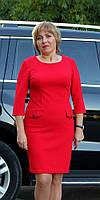 Платье женское  полубатал пуговка карман красное, фото 1