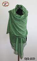 Стильный  шарф с кружевом  Летний ветер