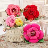 Подушка в форме розы 3d плюшевая Роза 30см