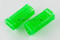 """Резинки подножек водителя   для мопеда Delta   (силиконовые, зеленые)   """"XJB"""""""