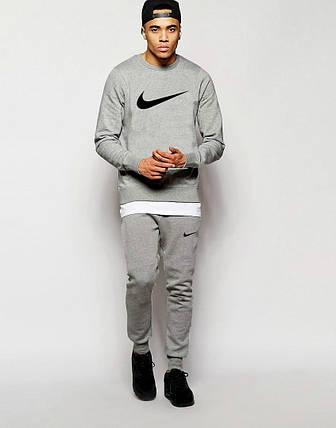 Мужской Спортивный костюм Nike серый, фото 2