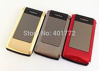Раскладной телефон Tkexun T10 на 2 сим металлический корпус внешний дисплей, фото 1