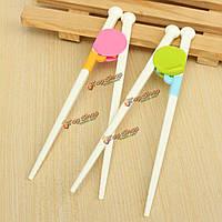 1 пара палочки для еды подающие ребенка красочные детей смешно прекрасные тренировки силикона хелперы обучения легким начинающий использ
