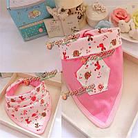 Младенца хлопка нагрудники отрыжка ткани двойной треугольник нагрудник расходных материалов полотенце слюны для кормления