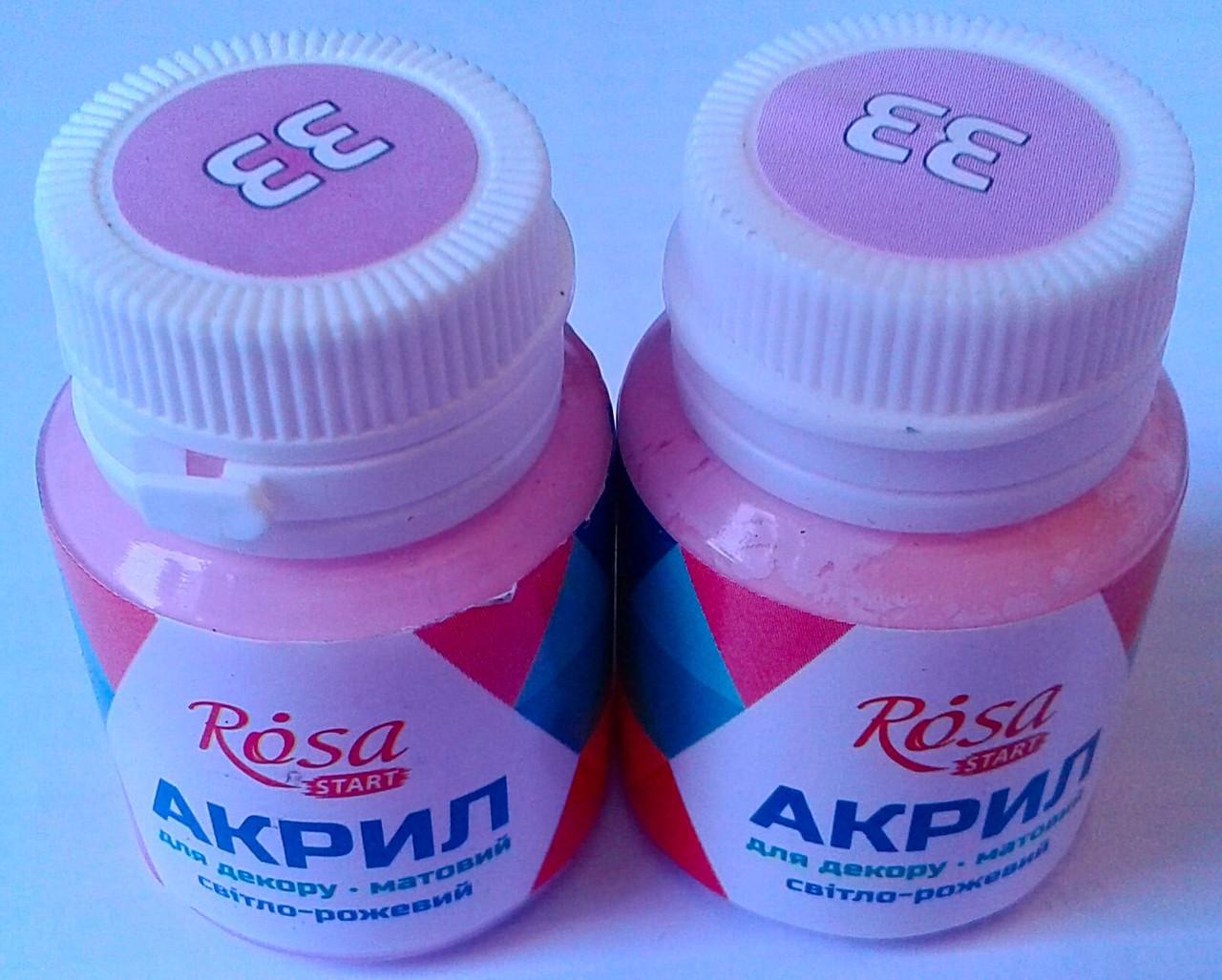 Акрил Светло розовый 20 мл 20033 РОСА Украина