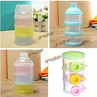 Случайный цвет 3 слоя ящик для хранения бутылки корма ребенка сухое молоко диспенсер контейнер отсек путешествия
