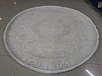 Нежный однотонный кремовый ковер из хлопка в классическом стиле