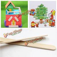 50шт деревянные эскимо мороженое палочки Дети Живопись палочке Cake ремесло палочки для поделок ремесла материалы