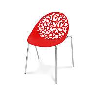 Ажурный стул Hile 504 в офис, на террасу, кухню Красный