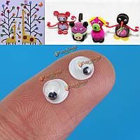 Глазки подвижные для игрушек подвижные 3мм 1000 шт 5мм