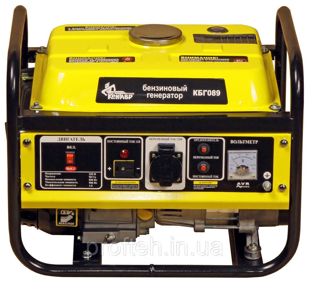 Генератор бензиновый Кентавр КБГ-089 (0,85 кВт) Бесплатная доставка, фото 1
