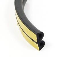 Уплотнители самоклеющиеся резиновые Stomil Sanok D-тип (черный) 10*12 мм, бухта - 40 м