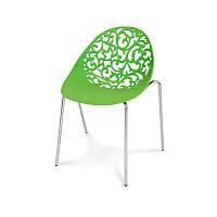 Ажурный стул Hile 504 в офис, на террасу, кухню Зеленый