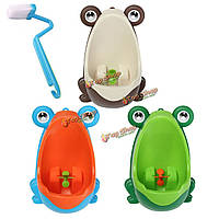 Прекрасная лягушка щетка для чистки детских учебных горшок туалет дети писсуар ребенком мальчик мочиться съемный ванная комната