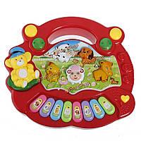 Ребенок дети животное фермы клавиатуры электрическое пианино ребенок музыкальная игрушка