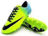 Футбольные бутсы Nike Mercurial FG Volt/Blue/Black, фото 1